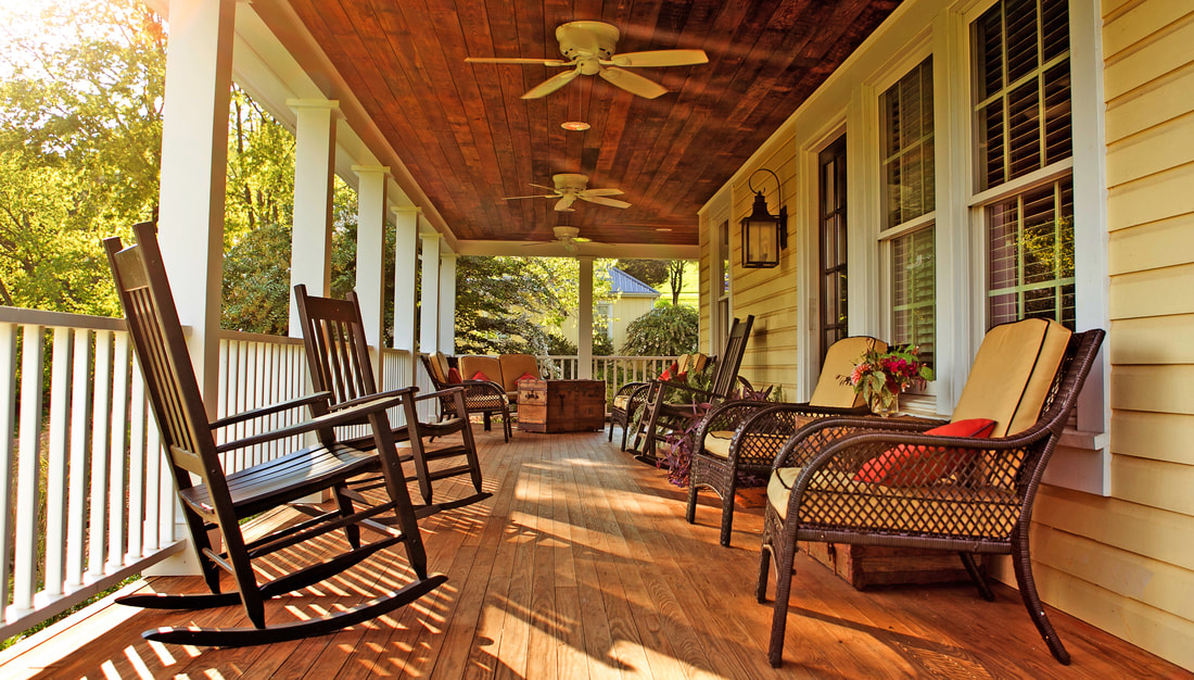Tenant House Porch at The Inn at willow grove